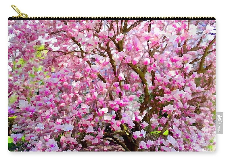 Digital Art Carry-all Pouch featuring the photograph Magnolia Beauty #14 by Ed Weidman