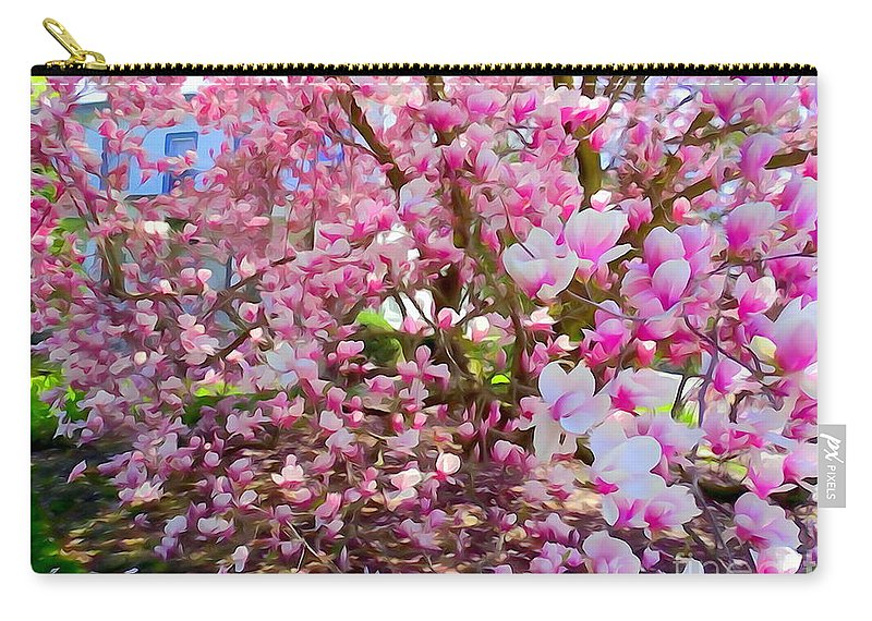 Digital Art Carry-all Pouch featuring the photograph Magnolia Beauty #15 by Ed Weidman
