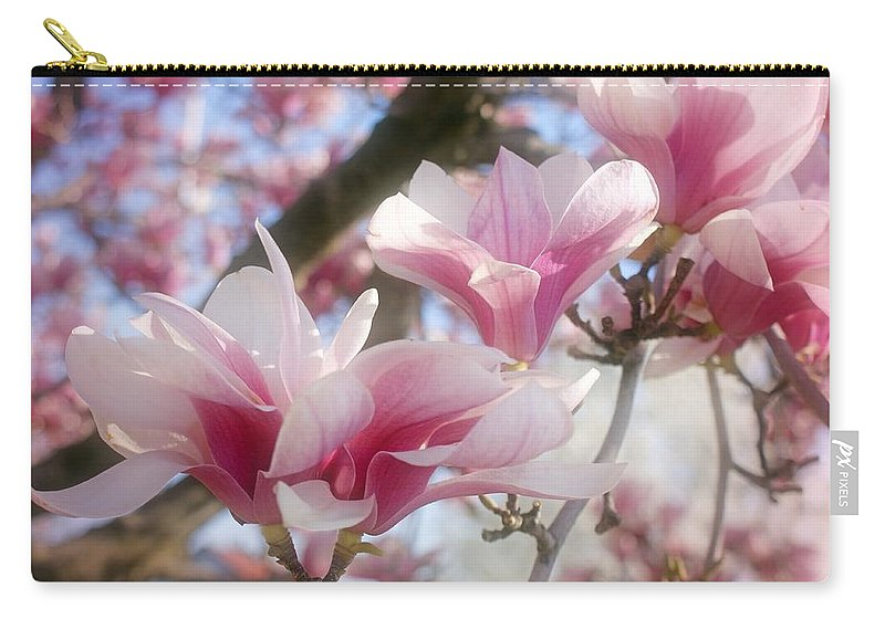 Magnolia Blossoms Carry-all Pouch featuring the photograph Magnolia Blossoms by Sandy Keeton