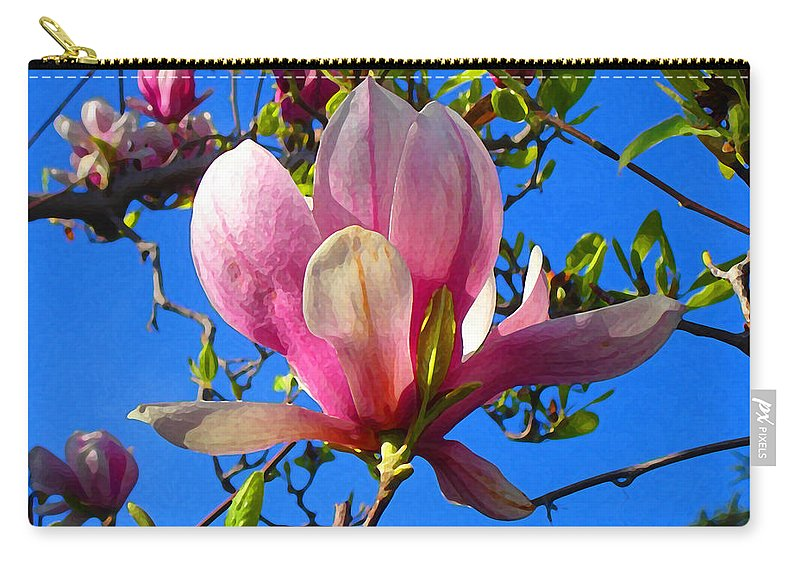 Magnolia Carry-all Pouch featuring the painting Magnolia Flower by Amy Vangsgard