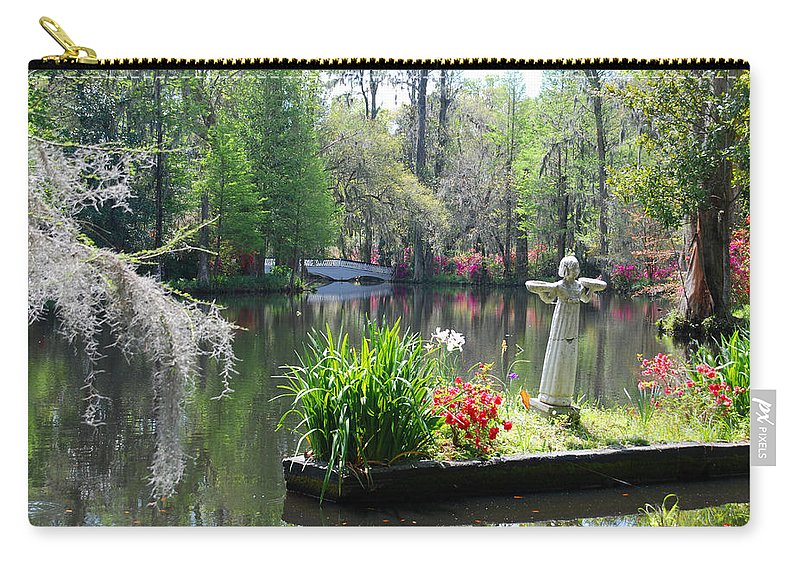 Photography Carry-all Pouch featuring the photograph Magnolia Gardens In Charleston by Susanne Van Hulst