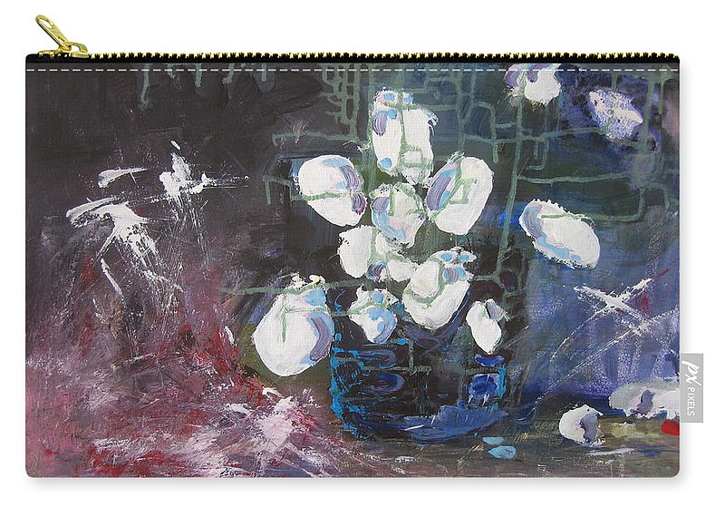 Abstract Paintings Carry-all Pouch featuring the painting Magnolia by Seon-Jeong Kim