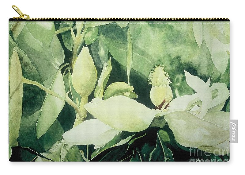Magnolias Carry-all Pouch featuring the painting Magnolium Opus by Elizabeth Carr