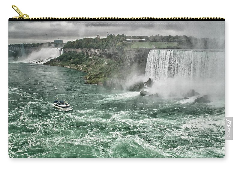 Maid Of The Mist Carry-all Pouch featuring the photograph Maid Of The Mist 8971 by Guy Whiteley