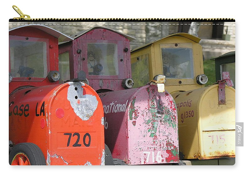 Mail Carry-all Pouch featuring the photograph Mail Boxes Wi by Diane Greco-Lesser