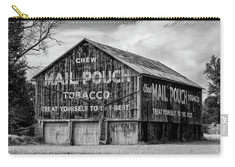 Barns Carry-all Pouch featuring the photograph Mail Pouch Barn - Us 30 #1 by Stephen Stookey