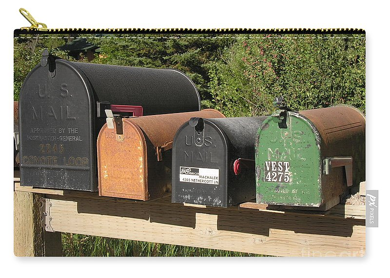 Mail Carry-all Pouch featuring the photograph Mail Seakers by Diane Greco-Lesser