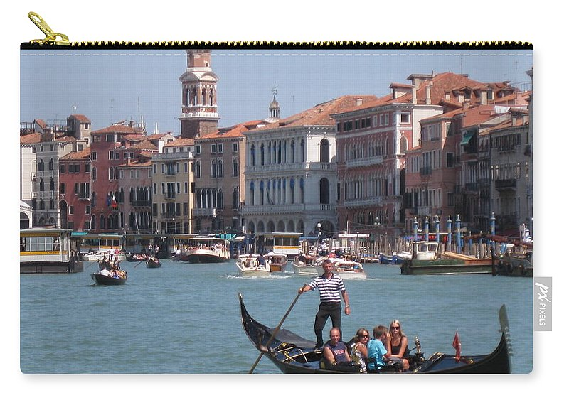 Venice Italy Carry-all Pouch featuring the photograph Main Canal Venice Italy by John Malone