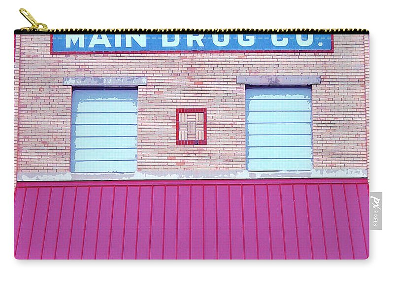 Old Building Carry-all Pouch featuring the mixed media Main Drug Company by Dominic Piperata