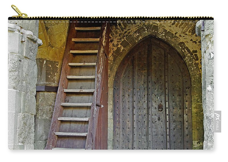 Isle Of Wight Carry-all Pouch featuring the photograph Main Entrance To St Mary's Church At Brading by Rod Johnson
