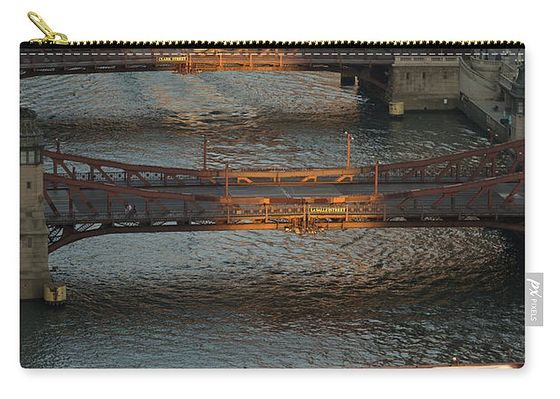 Chicago Carry-all Pouch featuring the photograph Main Stem Chicago River by Steve Gadomski