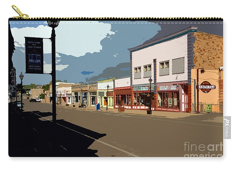 Main Street Carry-all Pouch featuring the painting Main Street by David Lee Thompson