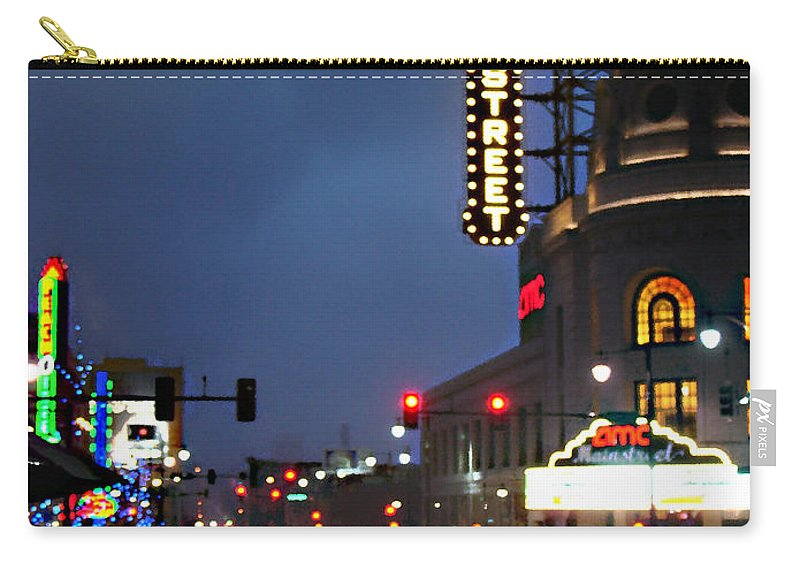 Landscape Carry-all Pouch featuring the photograph Main Street Kansas City by Steve Karol