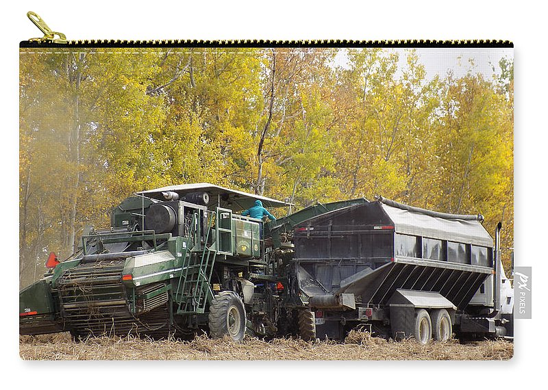 Harvest Carry-all Pouch featuring the photograph Maine Potato Harvest 2015 by William Tasker