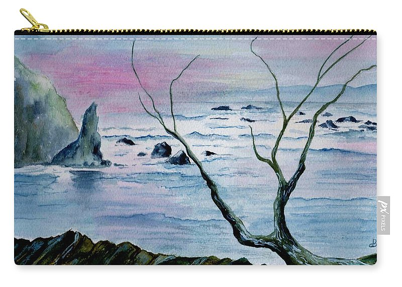Watercolor Carry-all Pouch featuring the painting Maine Seawatch by Brenda Owen