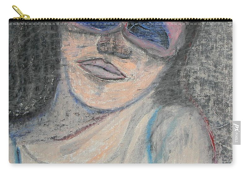 Woman Carry-all Pouch featuring the painting Maine Woman by Marwan George Khoury