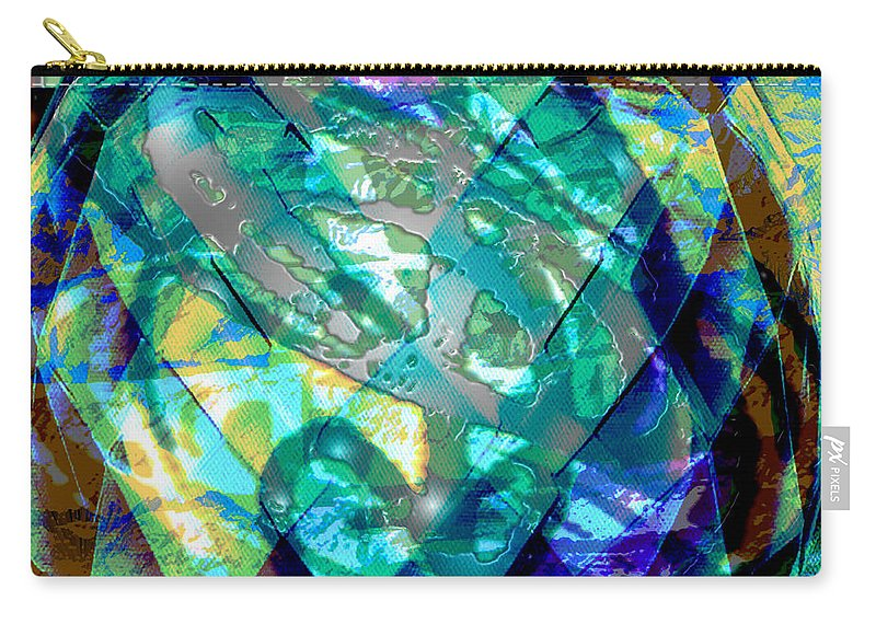 Abstract Carry-all Pouch featuring the digital art Mainspring Of Time by Seth Weaver