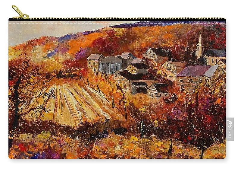 Poppies Carry-all Pouch featuring the painting Maissin by Pol Ledent