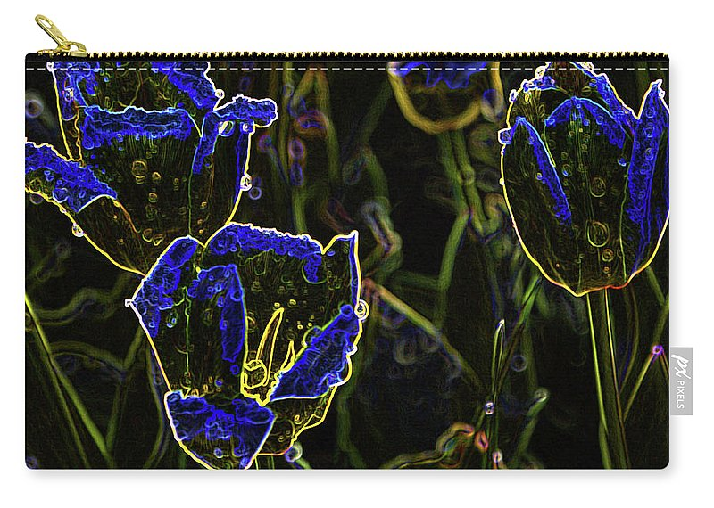 Blue Carry-all Pouch featuring the digital art Majestic Blue by Steven Parker