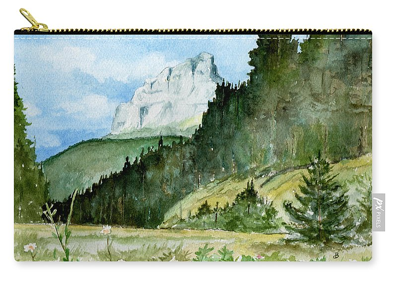 Landscape Carry-all Pouch featuring the painting Majestic by Brenda Owen