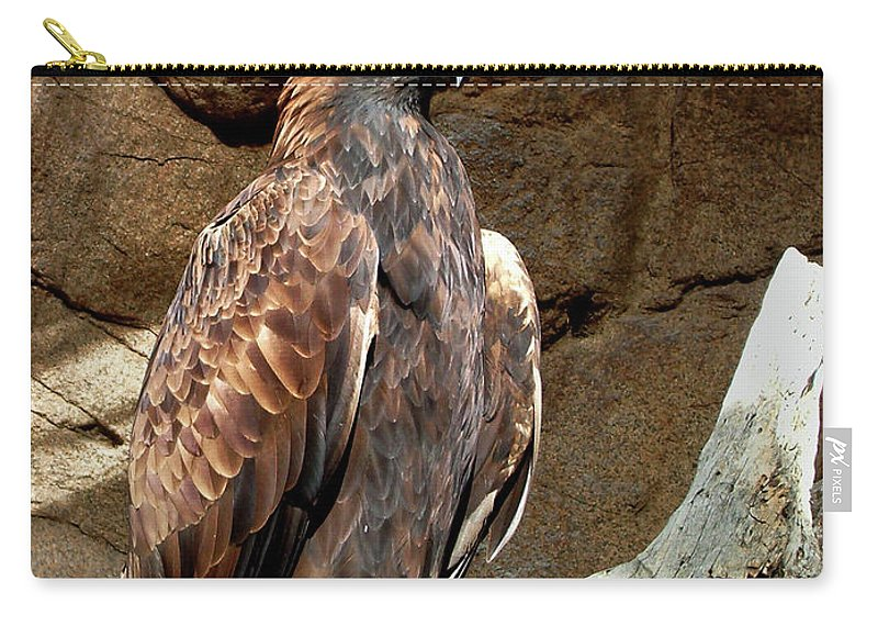 Majestic Eagle Carry-all Pouch featuring the photograph Majestic Eagle by Mariola Bitner
