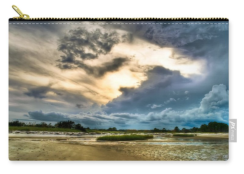 Beach Carry-all Pouch featuring the photograph Majestic Sky by Rich Leighton