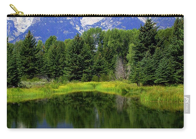 Grand Teton National Park Carry-all Pouch featuring the photograph Majestic Tetons by Marty Koch