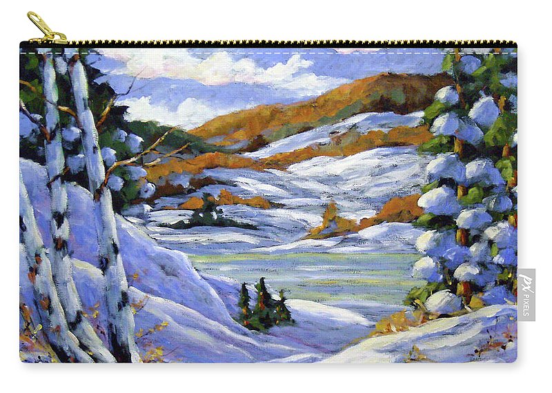 Art Carry-all Pouch featuring the painting Majestic Winter by Richard T Pranke