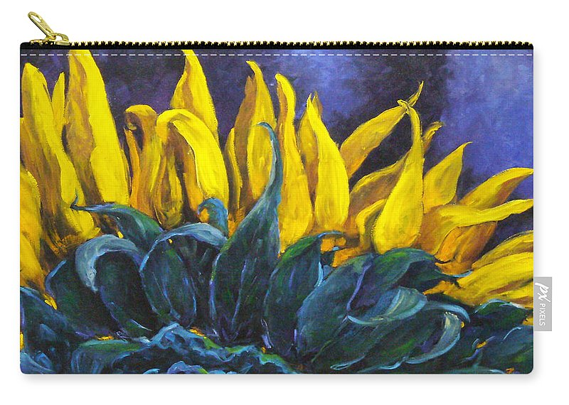 Flower Carry-all Pouch featuring the painting Majestica by Richard T Pranke