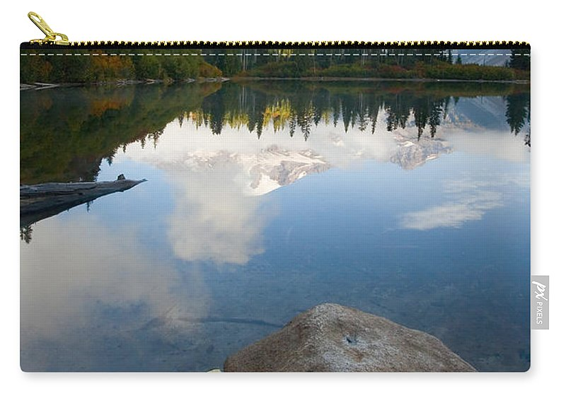Rainier Carry-all Pouch featuring the photograph Majesty Hidden by Mike Dawson