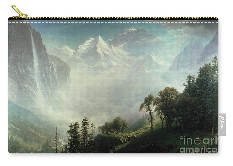 Majesty Carry-all Pouch featuring the painting Majesty Of The Mountains by Albert Bierstadt