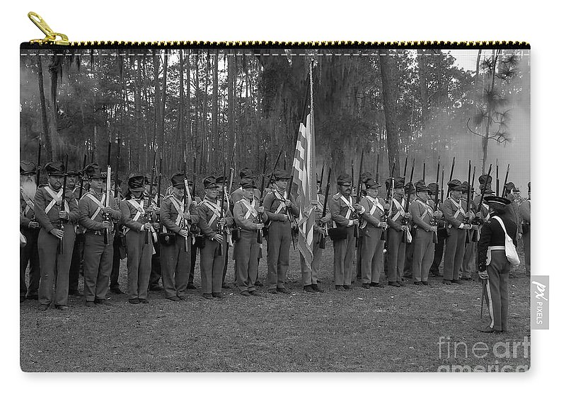Dade Battlefield Carry-all Pouch featuring the photograph Major Dade's Men by David Lee Thompson