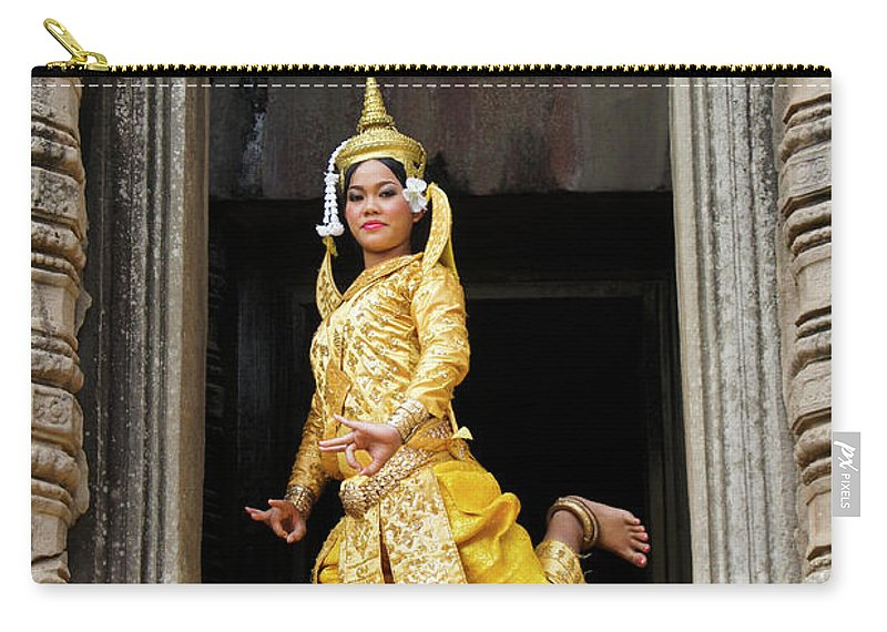Asia Carry-all Pouch featuring the photograph Makala Dancer In Cambodia by Michele Burgess