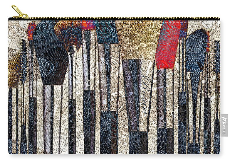 Brush Carry-all Pouch featuring the drawing Make Up Brush by Rosa Maria Intorre
