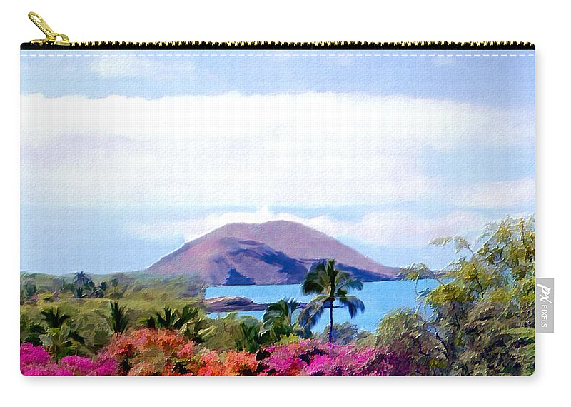 Hawaiian Islands Carry-all Pouch featuring the photograph Makena Maui by Kurt Van Wagner