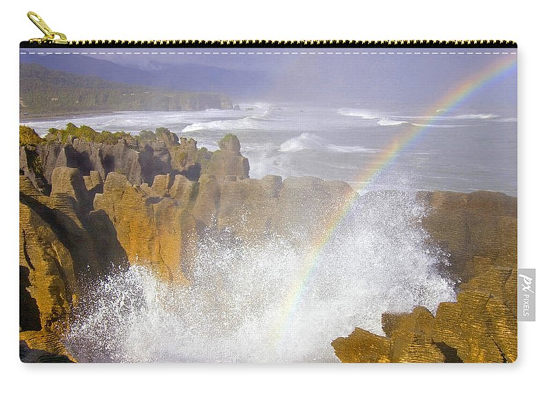 Paparoa Carry-all Pouch featuring the photograph Making Miracles by Mike Dawson