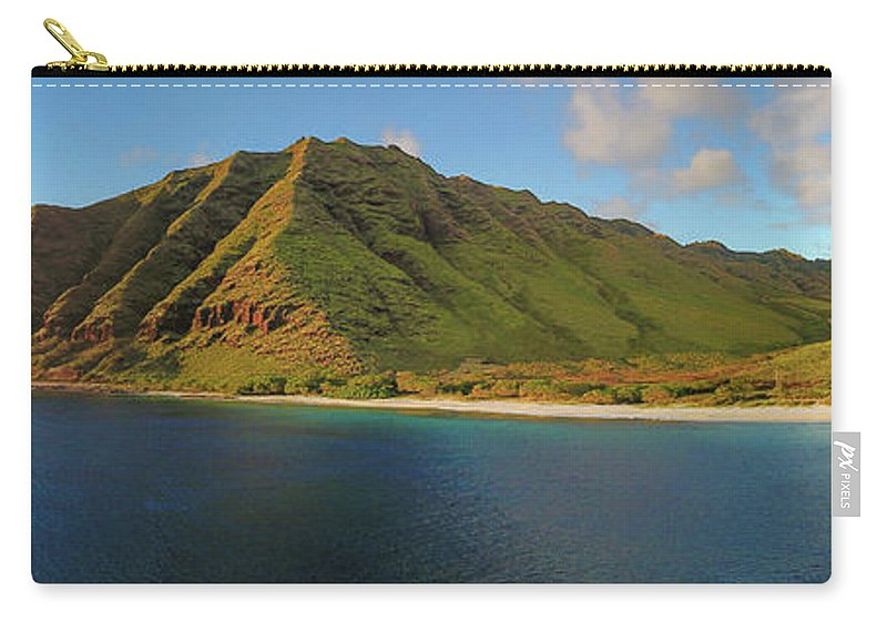 Makua Carry-all Pouch featuring the photograph Makua, Oahu by Megan Martens