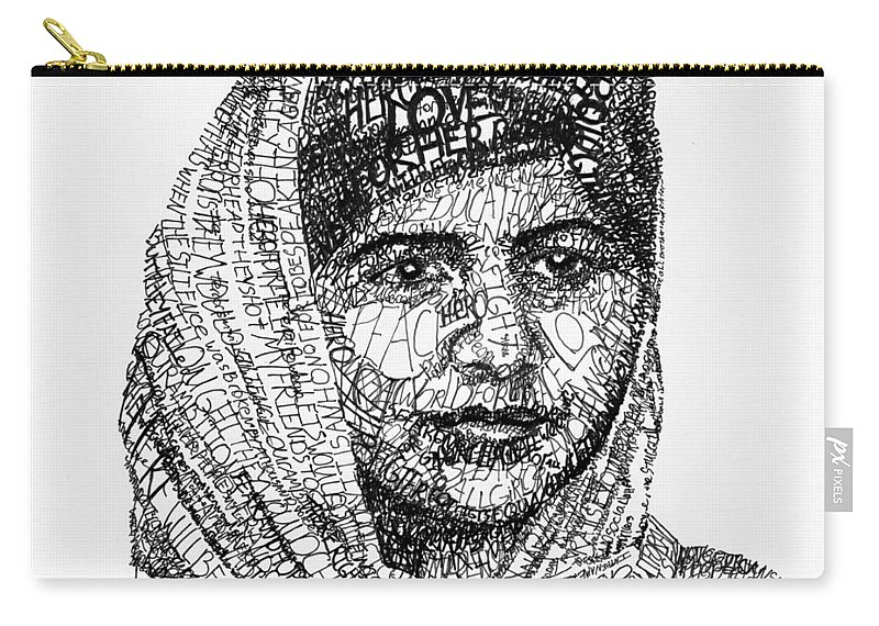 Girl Carry-all Pouch featuring the drawing Malala Yousafzai by Michael Volpicelli