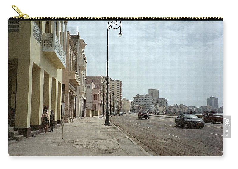 Quin Sweetman Carry-all Pouch featuring the photograph Malecon En Havana by Quin Sweetman