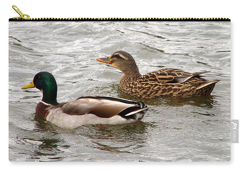 Duck Carry-all Pouch featuring the photograph Mallard Duo by J M Farris Photography