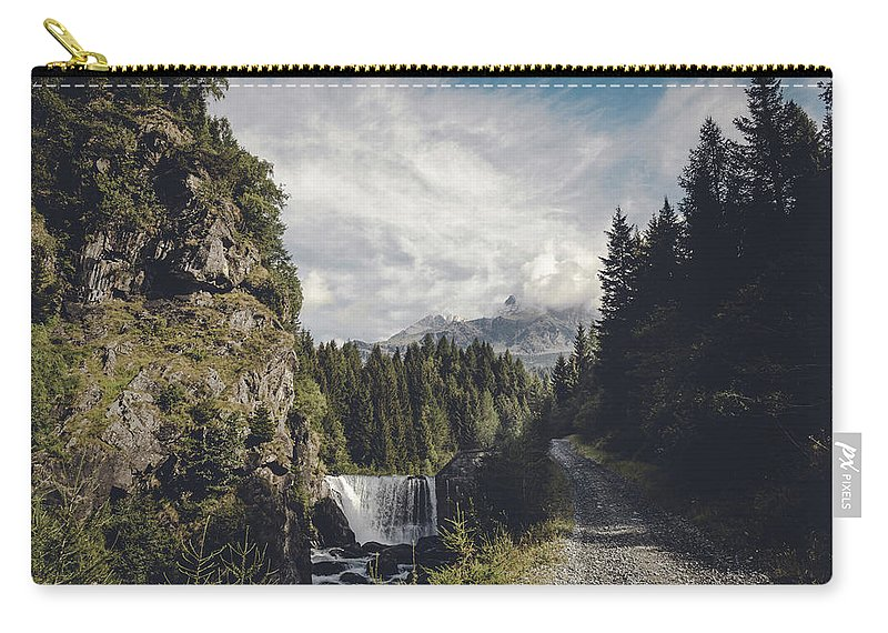 Alps Carry-all Pouch featuring the photograph Mallero Mountain Creek - Chiesa In Valmalenco - Lombardia - Italy by Dirk Wuestenhagen