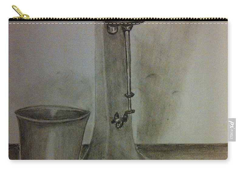 Old Tme Carry-all Pouch featuring the drawing Malt Machine by Irving Starr