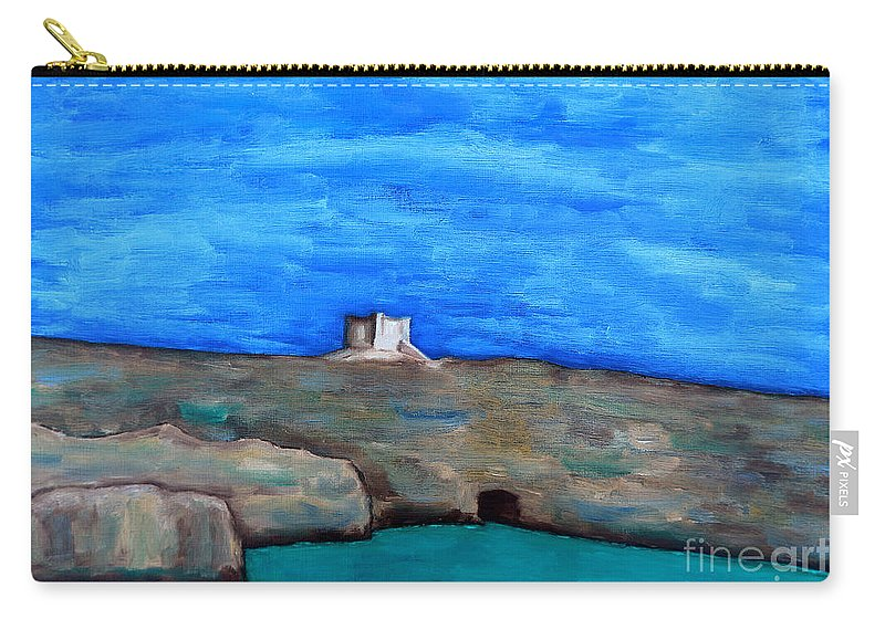 Fine Art Carry-all Pouch featuring the painting Malta 4 by Patrick J Murphy