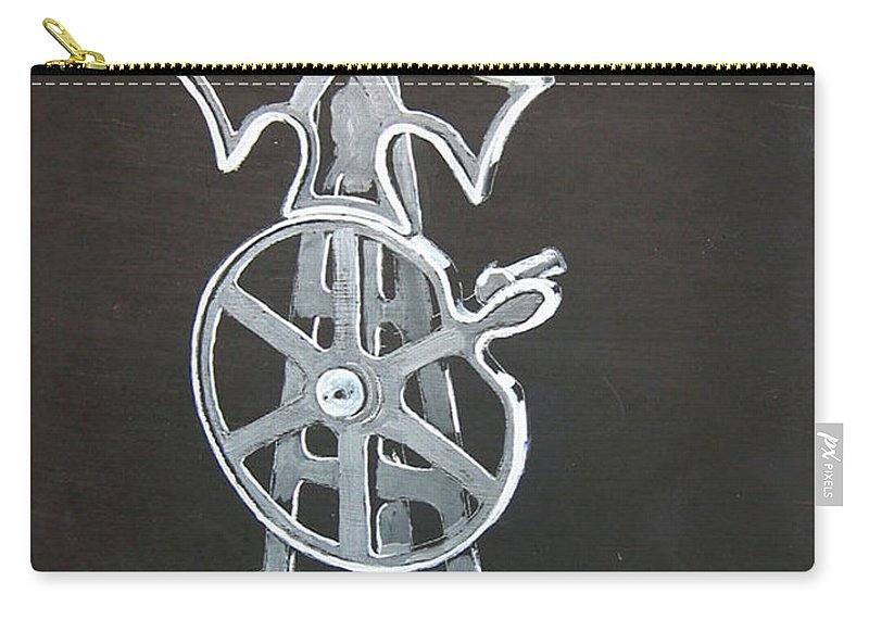 Maltese Cross Gears Carry-all Pouch featuring the painting Maltese Cross Gears by Richard Le Page