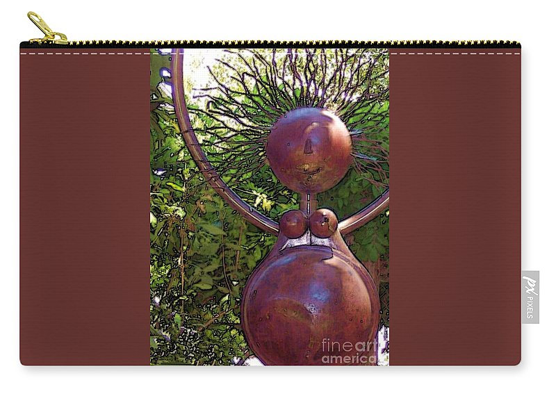 Sculpture Carry-all Pouch featuring the photograph Mama Tool by Debbi Granruth