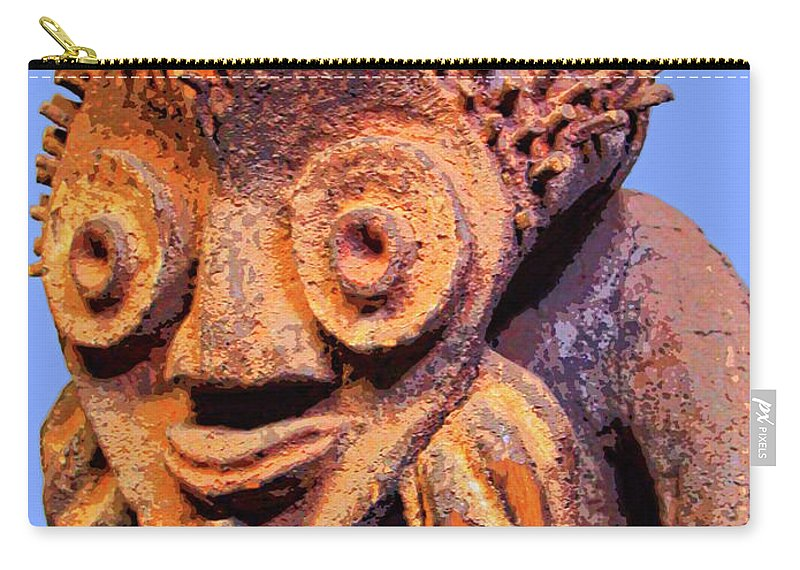 Africa Carry-all Pouch featuring the mixed media Mambila Figure by Dominic Piperata