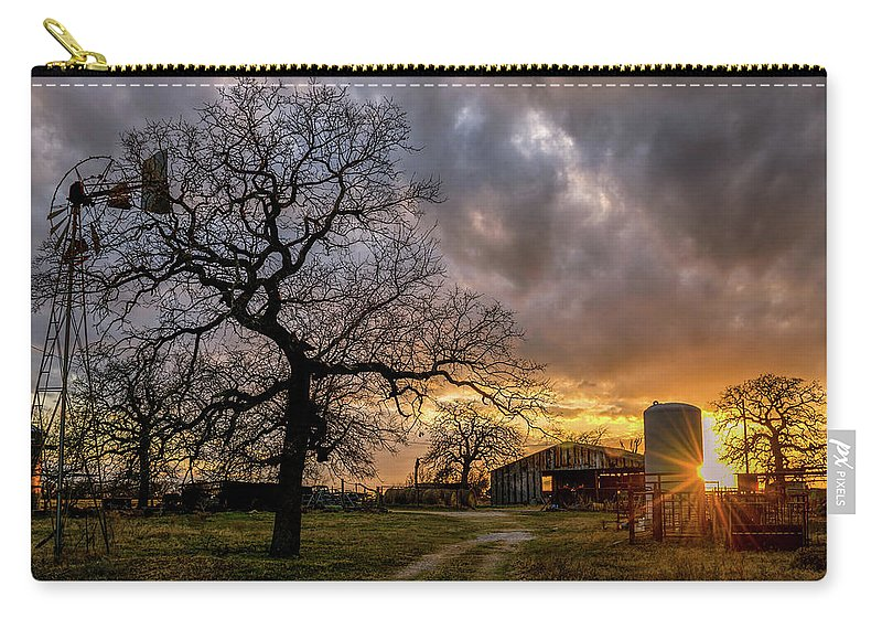 Texas Carry-all Pouch featuring the digital art Mambrino Ranch by Kenny Kunzman