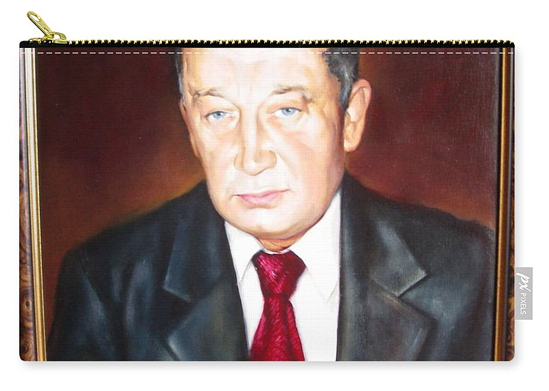 Art Carry-all Pouch featuring the painting Man 1 by Sergey Ignatenko