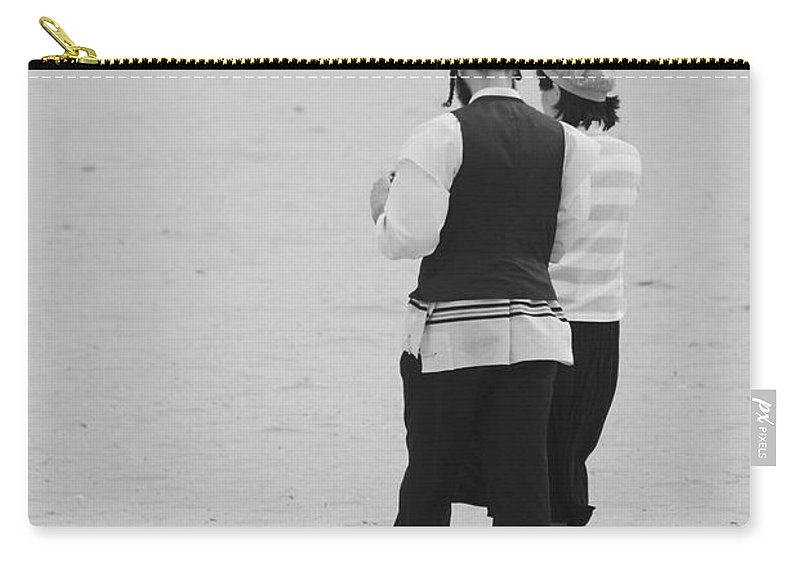 Black And White Carry-all Pouch featuring the photograph Man And Woman by Rob Hans