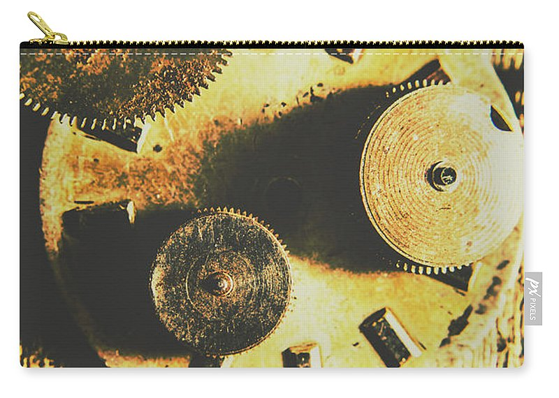 Parts Carry-all Pouch featuring the photograph Man Made Time by Jorgo Photography - Wall Art Gallery